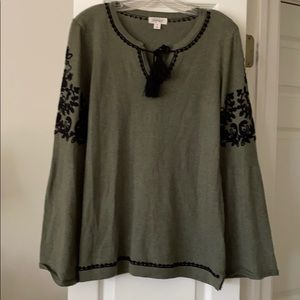 Style & Co Bell Sleeve Sweater